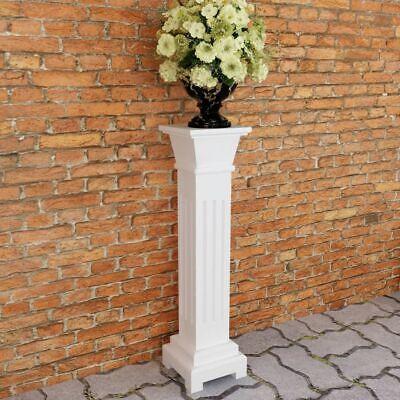 Classic Flower Plant Stand Square Pillar MDF Garden Patio Yard Decor Elegant UK