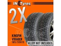 2x 185/55R15 Kingpin Virager Track Day Oval Drifting Stock Banger Racing