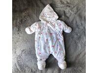 Super warm baby / newborn snowsuit - pramsuit