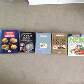 5 Good Housekeeping Cookery Books in very good condition.