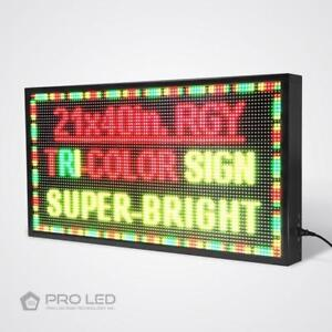 14 x 28 inch P5 Programmable Scrolling LED Sign for Store Window Sign Large Collection Available at ledsign4life.ca