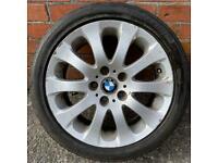 "1x 17"" GENUINE BMW E90 E91 3 SERIES 159 ALLOY WHEEL TYRE SPARE SINGLE 5x120"