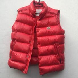 Moncler red gilet body warmer size 14 years