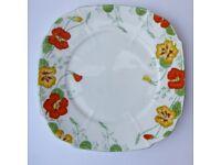 Pristine. Royal Paragon Fine Bone China Plate. Nasturtium design. Vintage.