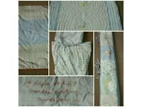 Cotbed Bumper, quilt, sheets etc - set