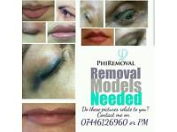 Permanent Makeup Removal Models Needed