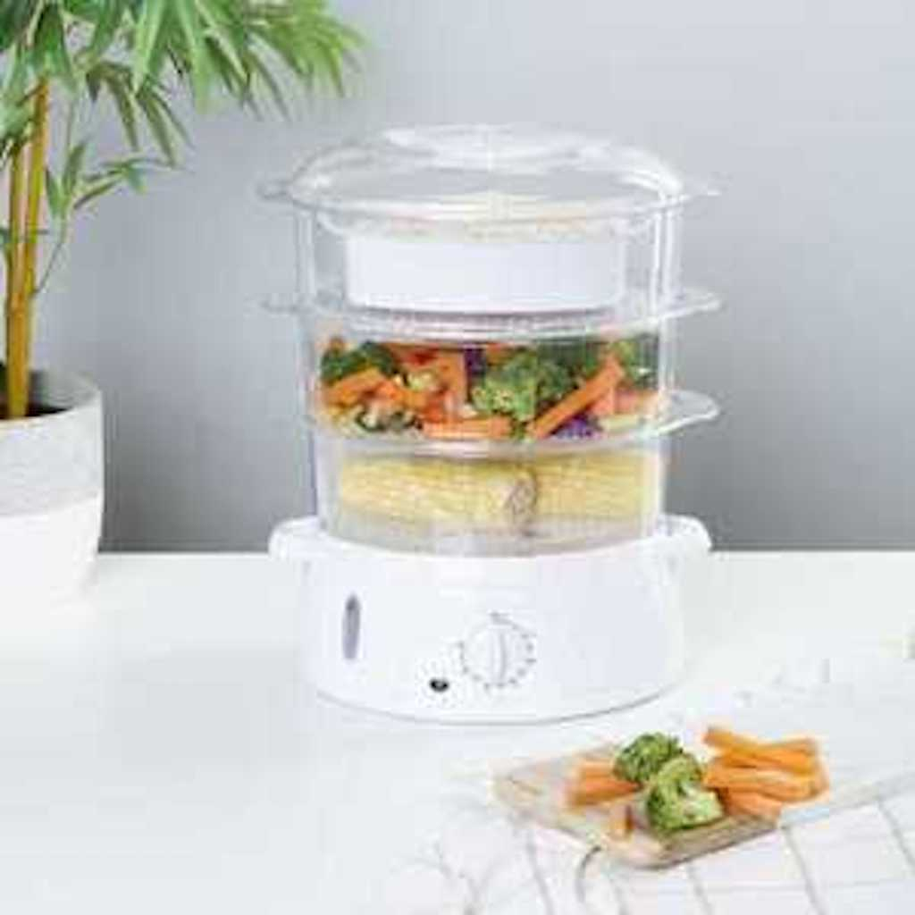 Brand NEW 9 Litre Manual Food Steamer 3 Stackable Compartmen