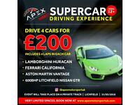 Car experience for Adults and Kids. Drive supercars on a racing track!