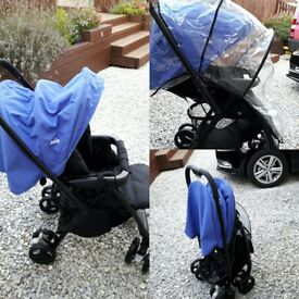 Joie stroller.blue bell with raincover.great durable buggy easy to fold and lightweight.