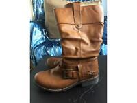 Beautiful Rieker tan boots size 5 (eur 38)