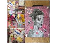 Children's craft bundle in a soap and glory travel case