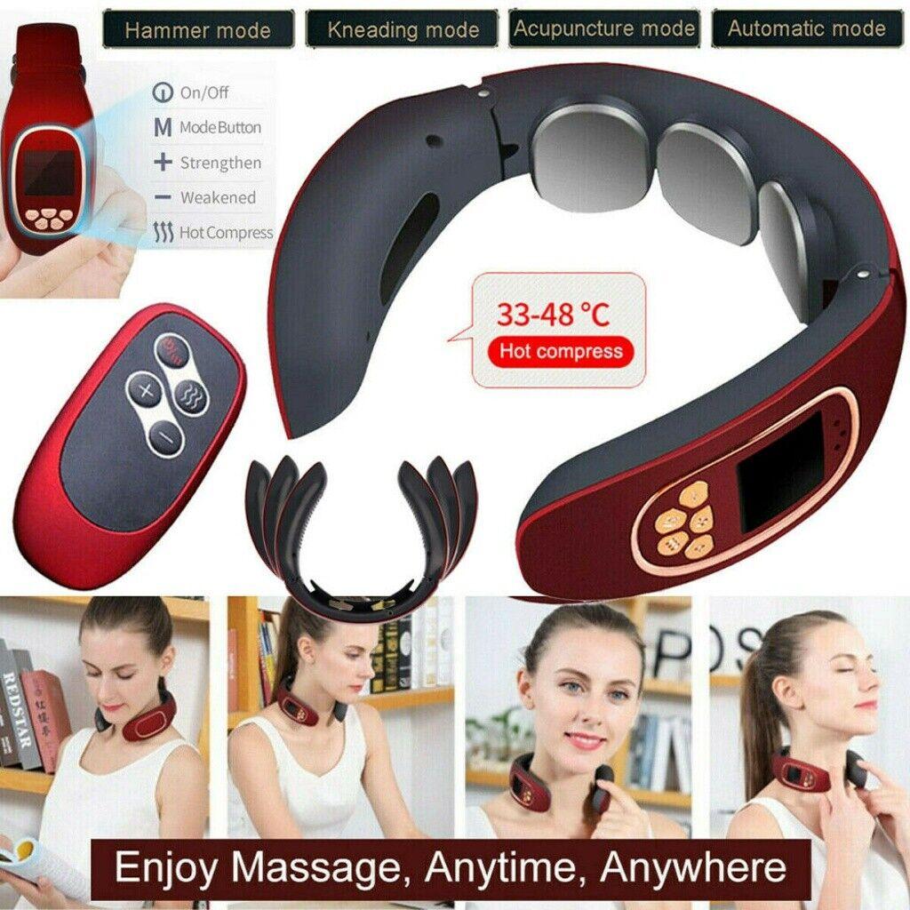 3D Massagegerät Nacken Schulter Elektrisch Massager Halswirbel Wärmefunktion USB