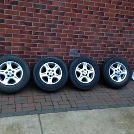 """15"""" LANDROVER FREELANDER 1 ALLOY WHEELS WITH TYRES 195/80 /R15"""