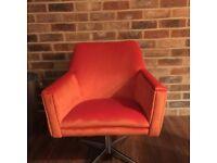 Original retro vintage 60's/70's swivel rock a billy chair