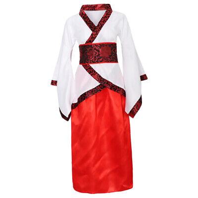 Chinesischer Hanfu Cosplay Kostüm für Damen, Weiß und Rot