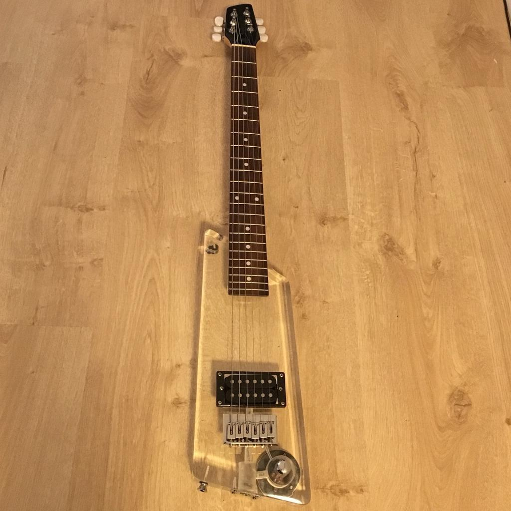 "Wesley acrylic electric ""travel"" guitar"