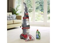 VAX 124A Dual V Upright Carpet and Upholstery Washer - Grey/Red - Brand New/Unused