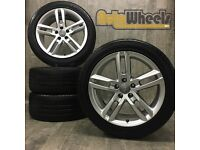 18'' GENUINE AUDI A6 S LINE ALLOY WHEELS & BRIDGESTONE TYRES A4 VW SEAT SPORT delivery available