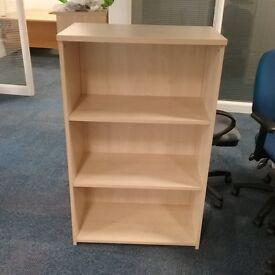 Beech effect bookcase