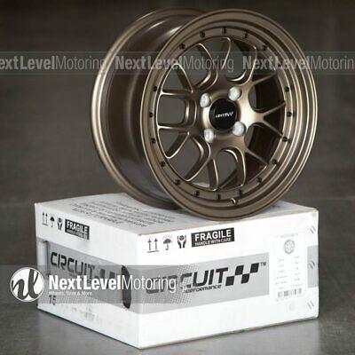 Circuit CP27 15x7 4-100 +35 Matte Flat Bronze Wheels Fits Acura Integra GSR DC2