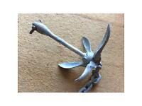 Folding Boat Grapnel Anchor & Chain