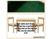 Ikea table and 2 chairs kids children's