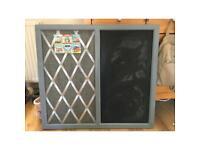 Chalk board kitchen bedroom memo board grey shabby chic