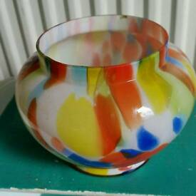 Multicoloured glass bowl