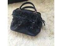 Topshop women's black detailed handbag