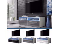 TV Stand Cabinet Unit Lowboard Entertainment Media EROS FREE LED
