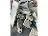 Garden stones rockery