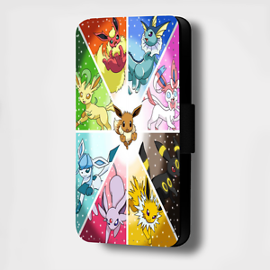 POKEMON-COLLAGE-TRIANGLE-FLIP-PHONE-CASE-COVER-WALLET-FITS-ALL-MODELS
