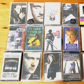 Music cassette tapes from the 80's & 90's VGC