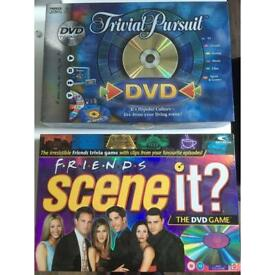 Friends Scene it? DVD game & Trivial Pursuit game-Good used condition