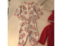 Baby girl 0-3 month bundle coats and PJ's