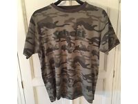 Schott Army T-Shirt Size Large