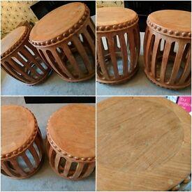 Pair of Drum Tables
