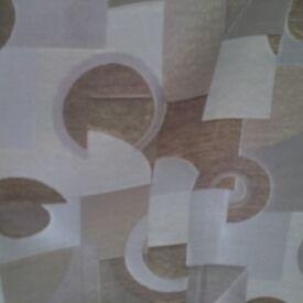 233 cm drop Beige/brown Eyelet Curtains