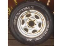 4x4 spare wheel jap fitment hilux l200 navara
