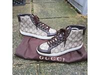 Gucci brown high top trainers size 2.5