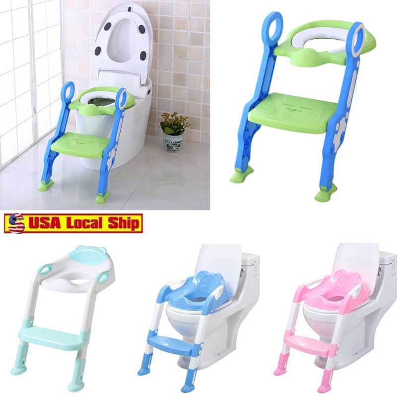 baby kids potty training seat with step