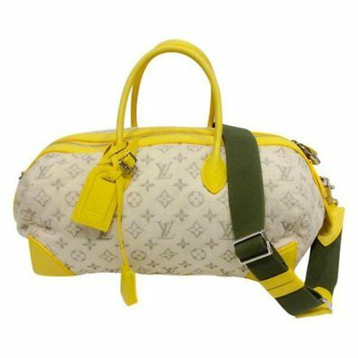 Louis Vuitton Limited Edition Jaune Monogram Denim Speedy Round Cross Body Bag