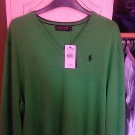 Men's Ralph Lauren green jumper