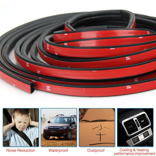 Car Parts - 10M B-Shape Trim Rubber Strip Universal Car Door Edge Seal Hollow Weather-strip