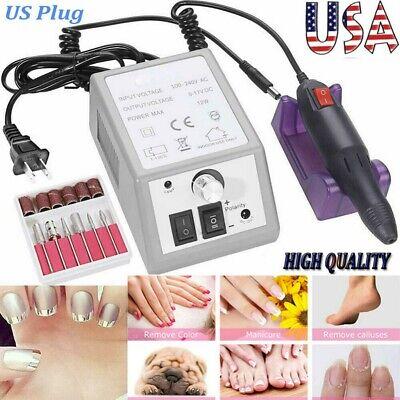 Professional Electric Nail File Drill Manicure Acrylic Pedicure Machine Set Kit