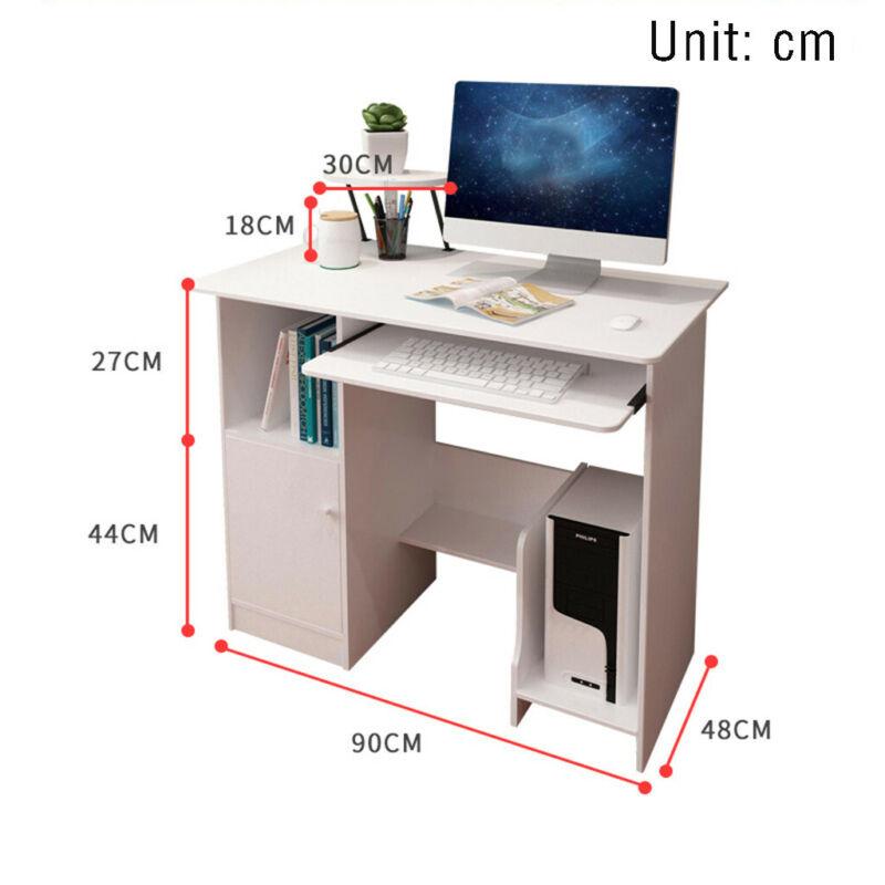 Home Office Computer Desk Modern Study Writing Desk Small Sp