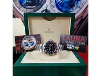 Package silver strap black face black and red ceramic bezel Rolex submariner automatic sweeping