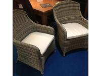 Pair of john lewis deluxe Dante chairs rrp £350