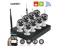 8CH Wireless Wifi 2MP 1080P DVR Outdoor HD IP Cameras CCTV With 1TB HardDrive
