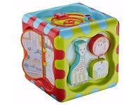 SOPHIE THE GIRAFFE LARGE PLAY CUBE BABY ACTIVITY TOY / EDUCATION